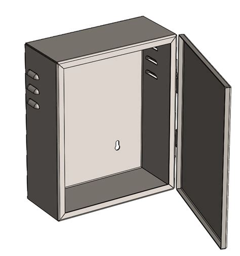 box sheet metal vents hinge  fabpackage