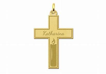 Gouden Kruis Kommunion Communie Kreuz Kaars Kerze