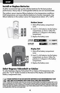 Install Or Replace Batteries  Select Degrees Fahrenheit Or
