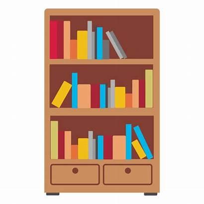 Bookshelf Estante Clipart Icon Transparent Svg Icono