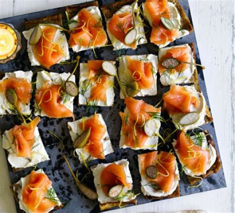 freezable canapes potato cakes with smoked salmon cheese recipe