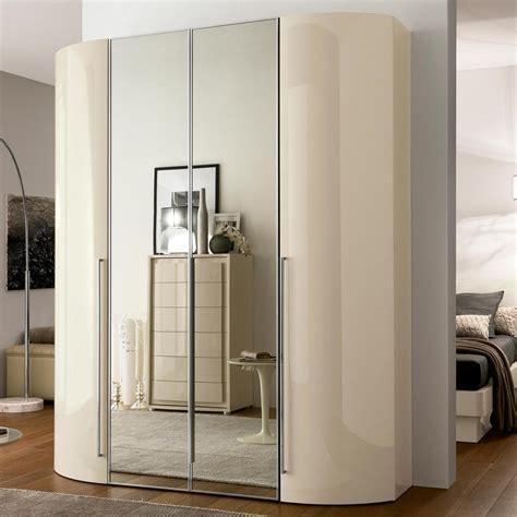 High Gloss Wardrobes by Valdina Curved 4dr High Gloss Wardrobe Ebay