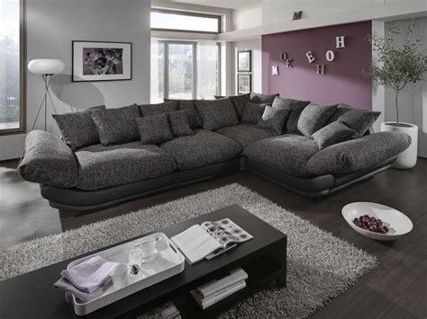 Designer Sofa Rose Luxury Megasofa Big Leather/fabric