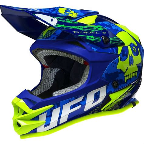 blue motocross helmet ufo 2018 onyx circus motocross mx enduro bmx helmet neon