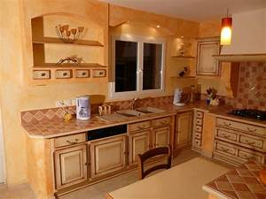 emejing cuisine provencale moderne pictures design With modele de cuisine rustique