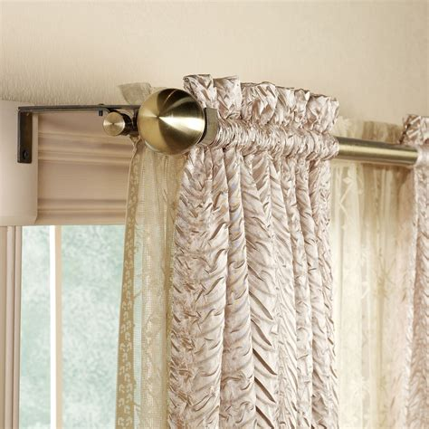 wrap around curtain rod decorative curtain rod 28 quot to 86 quot