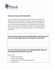 workplace wrap template With recovery action plan template