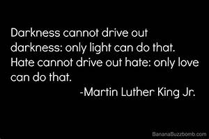 Hate cannot drive out hate: only love can do that. Martin ...