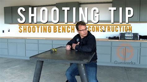 shooting tip shooting bench construction youtube