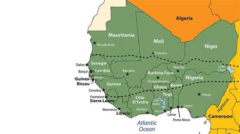 maps west african countries  travel information