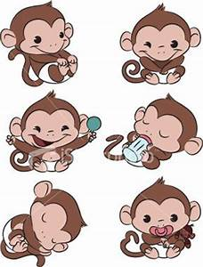Baby Monkey Time! Royalty Free Stock Vector Art ...