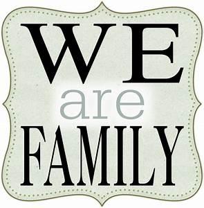 Jennifer Fehr Designs: We are Family Word Art - freebie ...
