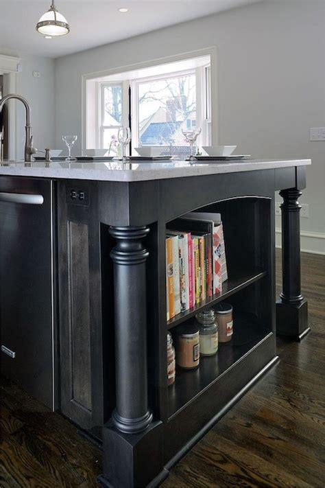 Kitchen Island Bookshelf Design Ideas