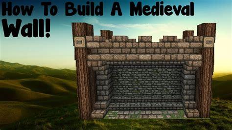 minecraft tutorial   build  medieval wall tutorial youtube