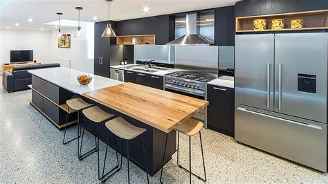 kitchens with island benches new and recycled timber benchtops timber revival melbourne 6628