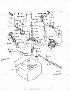 Kawasaki Jet Ski 1994 Oem Parts Diagram For Fuel Tank