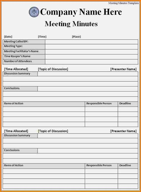 minutes  meeting template authorization letter
