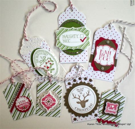 Stampin' Up V Is For Very Merry Tags For All Your Pretty
