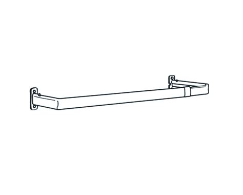 graber 48 84 inch lock seam single curtain rod 2 1 2 inch