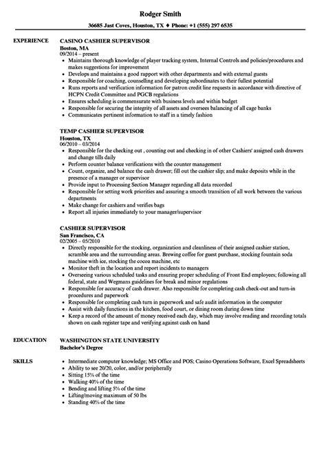 Curriculum Vitae For Cashier