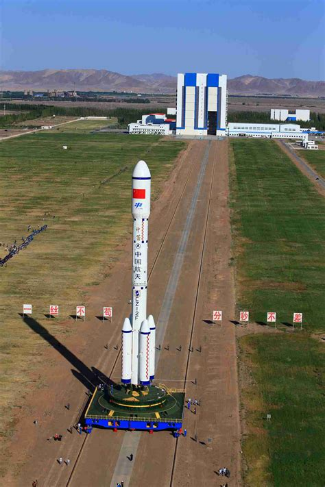 China's Spacelab Tiangong2 Transferred To Launch Pad