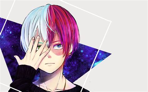 wallpapers shoto todoroki portrait  hero