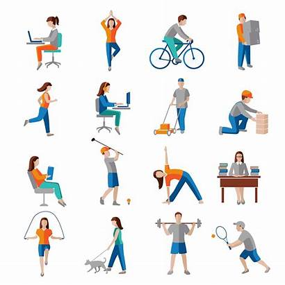 Physical Activity Icons Vector Clipart Graphics Resources