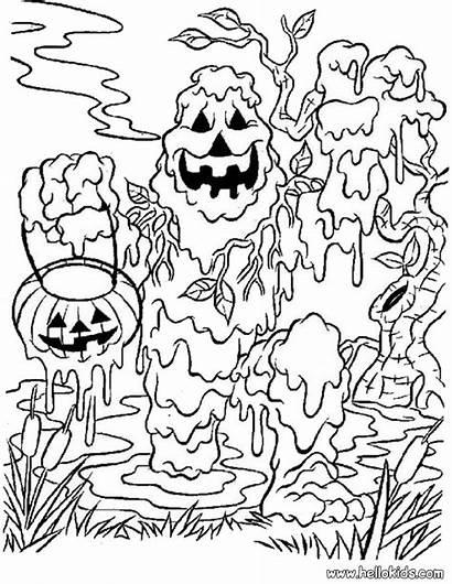 Coloring Monster Halloween Scary Mud Zum Ausmalen