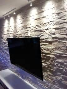 steinwand farbe steinwand wohnzimmer downshoredrift