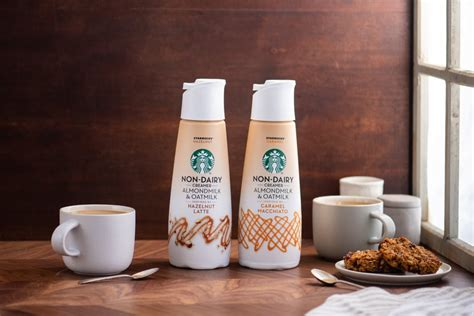 They're available in three flavors: Starbucks Released 2 New Nondairy Coffee Creamers   POPSUGAR Food