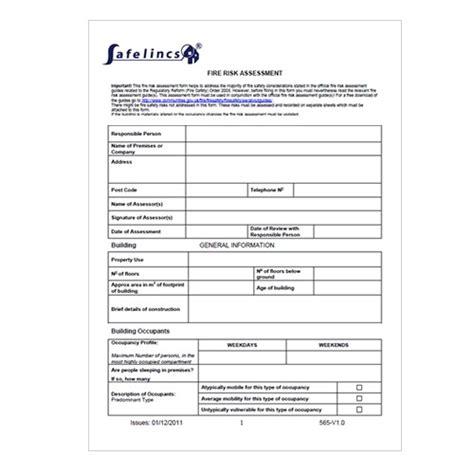 risk assessment template risk assessment form now