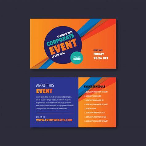 Corporate event & seminar card invitation design Vector