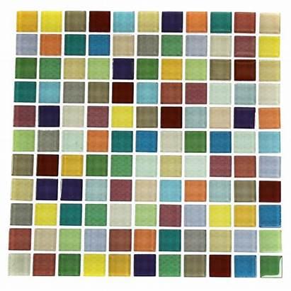 Tiles Glass Tile 1x1 Fruit Platter Backsplash