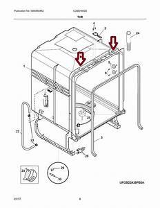 154406801 Dishwasher Mounting Bracket Kit