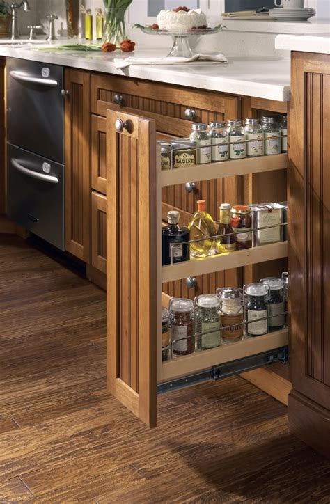 kitchen cabinets spice rack pull out new initiatives from merillat show homeowners how to 9173