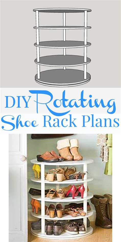 revolving shoe rack remodelaholic rotating shoe rack building plan