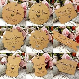 personalized brown kraft wedding favor thank you gift With personalized thank you tags for wedding favors