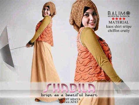 shabila dress balimo shabila orange baju muslim gamis modern
