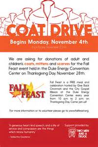 new fall feast coat drive poster
