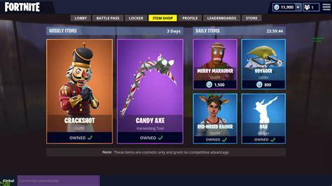 daily item shop items fortnitebr