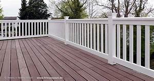 gelander fur balkon garten und terrasse hartholz weiss With garten planen mit aluminium geländer balkon