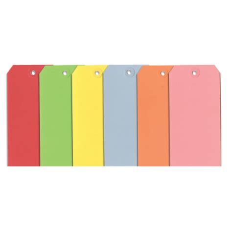 colored tags blank colored tags 7 2 7 8 quot x 5 3 4 quot