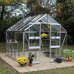 Serre En Polycarbonate Ou En Verre : serre de jardin blockey verre tremp 9 7 m embase ~ Premium-room.com Idées de Décoration