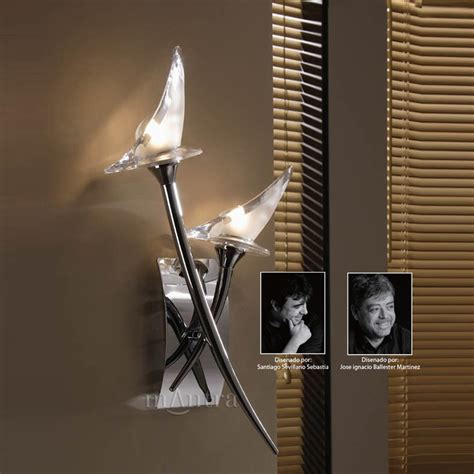 mantra m0308 s flavia 2 light chrome switched wall light