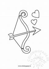 Bow Arrow Coloring Pages Minecraft Valentine Valentines Whitesbelfast Coloringpage Eu sketch template