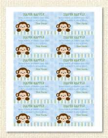 Diaper Ideas For Baby Shower Gift by Monkey Diaper Raffle Tickets Instant Download Raffle