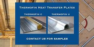 Radiant Heating Extruded Aluminum Heat Transfer Plates For