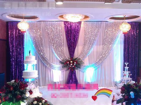 top luxury wedding backdrop xmftxft silver purple