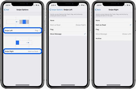 iphone custom gestures iphone how to customize swipe gestures in mail
