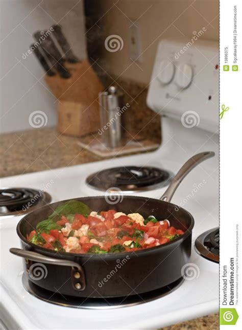 Healthy Food Cooking On The Stove Top Stock Image  Image